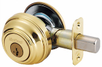Kwikset 980 3 SMT CP K4 Signature Brass Single Cylinder Deadbolt With SmartKey
