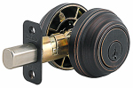 Kwikset 985 11P SMT CP K4 Signature Bronze Double Cylinder Deadbolt With SmartKey