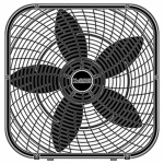 Jarden Consumer-Domestic HBF2001D-BM Box Fan, 3-Speed, Black, 20-In.