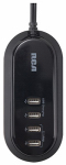 Audiovox TUSB4F USB Charger, 4-Ports