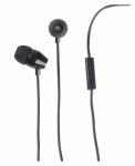 Audiovox HP159MICBK Earbuds Headphones With Microphone, Black
