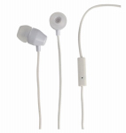 Audiovox HP159MICWH Earbuds Headphones With Microphone, White