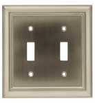 Brainerd Mfg Co/Liberty Hdw W10085-SN-U Toggle Wall Plate, 2-Gang, Architectural, Satin Nickel Zinc
