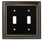 Brainerd Mfg Co/Liberty Hdw W10085-VBC-U Toggle Wall Plate, 2-Gang, Architectural, Bronze & Copper Zinc