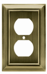 Brainerd Mfg Co/Liberty Hdw W10086-AB-U Duplex Wall Plate, 1-Gang, Architectural, Antique Brass Zinc