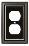 Brainerd Mfg Co/Liberty Hdw W10086-VBC-U Duplex Wall Plate, 1-Gang, Architectural, Bronze & Copper Zinc