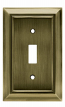 Brainerd Mfg Co/Liberty Hdw W10087-AB-U Toggle Wall Plate, 1-Gang, Architectural, Antique Brass Zinc