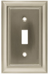 Brainerd Mfg Co/Liberty Hdw W10087-SN-U Toggle Wall Plate, 1-Gang, Architectural, Satin Nickel Zinc