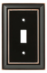 Brainerd Mfg Co/Liberty Hdw W10087-VBC-U Toggle Wall Plate, 1-Gang, Architectural, Bronze & Copper Zinc