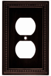 Brainerd Mfg Co/Liberty Hdw W10103-VBR-U Duplex Wall Plate, 1-Gang, Beaded Venetian Bronze Zinc