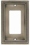 Brainerd Mfg Co/Liberty Hdw W10237-BSP-U Decorator Rocker/GFI Plate, 1-Gang, Beaded, Brushed Pewter Zinc