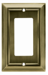Brainerd Mfg Co/Liberty Hdw W10244-AB-U Decorator Rocker/GFI Plate, 1-Gang, Architectural, Antique Brass Zinc