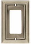 Brainerd Mfg Co/Liberty Hdw W10244-SN-U Decorator Rocker/GFI Plate, 1-Gang, Architectural, Satin Nickel Zinc