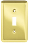 Brainerd Mfg Co/Liberty Hdw W10245-PB-U Toggle Wall Plate, 1-Gang, Stamped, Round, Polished Brass Steel
