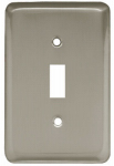 Brainerd Mfg Co/Liberty Hdw W10245-SN-U Toggle Wall Plate, 1-Gang, Stamped, Round, Satin Nickel Steel