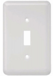 Brainerd Mfg Co/Liberty Hdw W10245-W-U Toggle Wall Plate, 1-Gang, Stamped, Round, White Steel