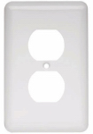 Brainerd Mfg Co/Liberty Hdw W10249-W-U Duplex Wall Plate, 1-Gang, Stamped, Round, White Steel