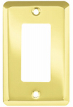 Brainerd Mfg Co/Liberty Hdw W10251-PB-U Decorator Rocker/GFI Wall Plate, 1-Gang, Stamped, Round, Polished Brass Steel