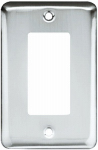 Brainerd Mfg Co/Liberty Hdw W10251-PC-U Decorator Rocker/GFI Wall Plate, 1-Gang, Stamped, Round, Polished Chrome Steel