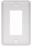 Brainerd Mfg Co/Liberty Hdw W10251-W-U Decorator Rocker/GFI Wall Plate, 1-Gang, Stamped, Round, White Steel