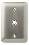 Brainerd Mfg Co/Liberty Hdw W10337-SN-U Coax Wall Plate, 1-Gang, Stamped, Round, Satin Nickel Steel