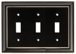 Brainerd Mfg Co/Liberty Hdw W10599-VBC-U Toggle Wall Plate, 3-Gang, Architectural, Bronze & Copper Zinc