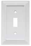 Brainerd Mfg Co/Liberty Hdw W10762-W-U Toggle Wall Plate, 1-Gang, Wood Architectural, White MDF Material