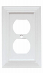 Brainerd Mfg Co/Liberty Hdw W10766-W-U Duplex Wall Plate, 1-Gang, Wood Architectural, White MDF Material