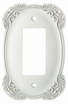 Brainerd Mfg Co/Liberty Hdw W12226-WTA-U Decorator Rocker/GFI Wall Plate, 1-Gang, Arboresque, White Antique Zinc