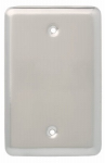 Brainerd Mfg Co/Liberty Hdw W13731-SN-U Blank Wall Plate, 1-Gang, Stamped, Round, Satin Nickel Steel