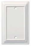 Brainerd Mfg Co/Liberty Hdw W13761-W-U Blank Wall Plate, 1-Gang, Wood Architectural, White MDF Material