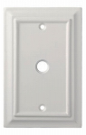 Brainerd Mfg Co/Liberty Hdw W13762-W-U Coax Wall Plate, 1-Gang, Wood Architectural, White MDF Material