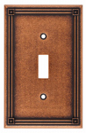Brainerd Mfg Co/Liberty Hdw W16044-CPS-U Toggle Wall Plate, 1-Gang, Sponged Copper Zinc