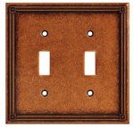Brainerd Mfg Co/Liberty Hdw W16045-CPS-U Toggle Wall Plate, 2-Gang, Sponged Coppper