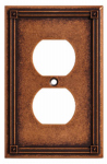Brainerd Mfg Co/Liberty Hdw W16046-CPS-U Duplex Wall Plate, 1-Gang, Sponged Copper Zinc