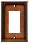 Brainerd Mfg Co/Liberty Hdw W16047-CPS-U Decorator Rocker/GFI Wall Plate, 1-Gang, Ruston, Sponged Copper Zinc
