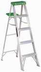 Louisville Ladder AS4005 5-Ft. Step Ladder, Aluminum, Type II, 225-Lb. Duty Rating