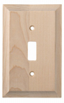 Brainerd Mfg Co/Liberty Hdw W29444-UN-U Toggle Wall Plate, 1-Gang, Huntsfield, Unfinished Birch
