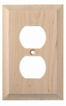 Brainerd Mfg Co/Liberty Hdw W29445-UN-U Duplex Wall Plate, 1-Gang, Huntsfield, Unfinished Birch