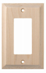 Brainerd Mfg Co/Liberty Hdw W29446-UN-U Decorator Rocker/GFI Wall Plate, 1-Gang, Huntsfield, Unfinished Birch
