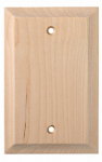 Brainerd Mfg Co/Liberty Hdw W30192-UN-U Blank Wall Plate, 1-Gang, Huntsfield, Unfinished Birch