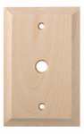 Brainerd Mfg Co/Liberty Hdw W30193-UN-U Coax Wall Plate, 1-Gang, Huntsfield, Unfinished Birch
