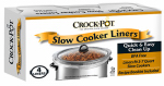Jarden Home Brands 4142690001 Crock Pot Slow Cooker Liners, 3-7-Qt., 4-Ct.