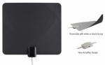 Audiovox ANT1150Z Amplified Indoor Antenna, Ultra Thin, Multi-Directional, Black