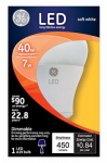 G E Lighting 13448 LED Light Bulb, Omni-Directional, White, 7-Watt