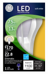 G E Lighting 22684 LED Light Bulb, Omni-Directional, White, 13-Watt