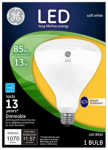 G E Lighting 89941 LED Flood Light Bulb, Indoor, BR40, White, 13-Watt