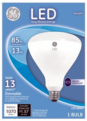 GE Lighting 35316 LED Flood Light Bulb, Indoor, Daylight, 1,