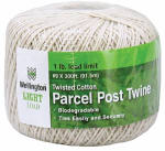 Wellington Cordage 14299 Parcel Post Cotton Twine, Natural, 300-Ft.