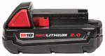 Milwaukee Electric or Electrical Tool 48-11-1820 M18 Red Lithium 2.0 Compact Battery Pack, 18-Volt